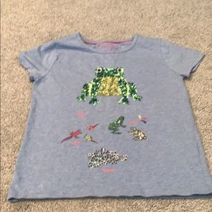 Sequin frog shirt by mini Boden